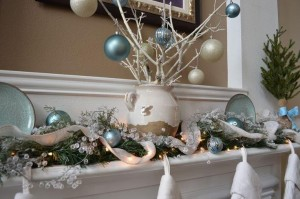 blue holiday decorating trend
